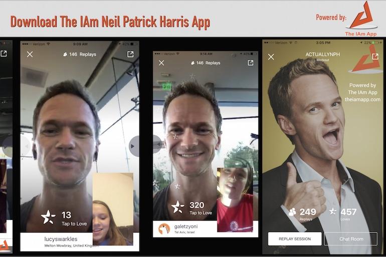 Social media,IAmneilpatickharris,Neil Patrick Harris,IAm app,Social,Apps,AppNations,